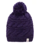 The North Face Tri Cable Pom Beanie_paars